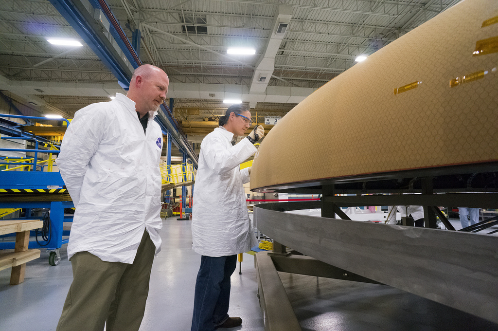 NASA Orion Spacecraft Textron Heat Shield Work